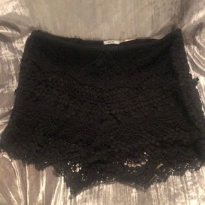 Black lace cotton shorts from urban outfitters